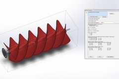 Mass Properties turbine mini modela u SolidWorks-u (Medium)